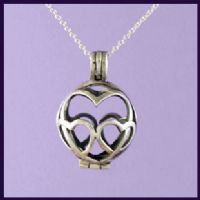 Heart Tumblestone Locket